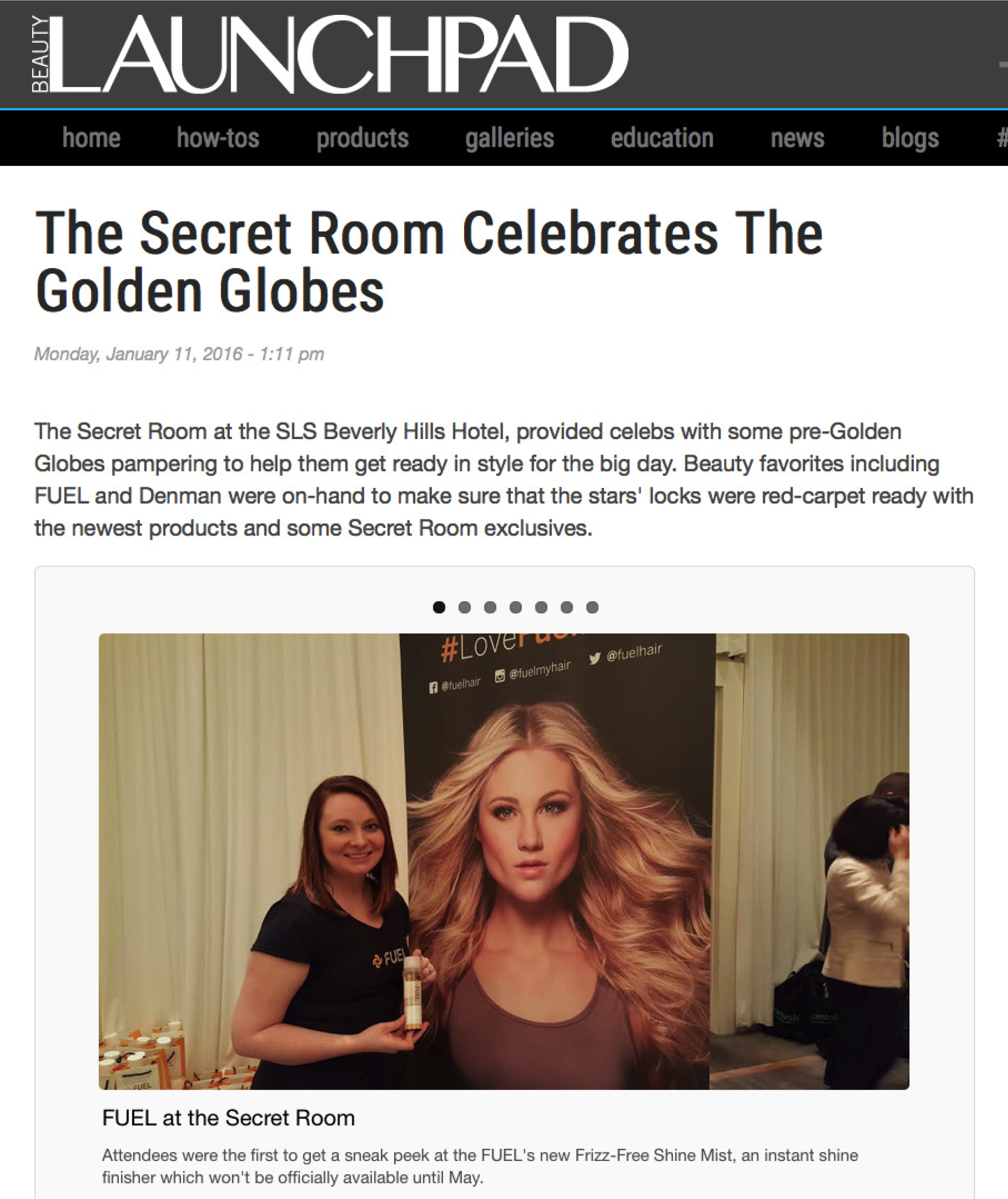 Beauty Launchpad, Secret Room Events Celebrate the Golden Globes